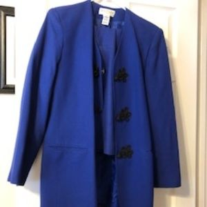 Royal Blue Skirt Suit